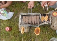 Portable Barbecue Grill Wire Mesh , Outdoor Barbecue Grill Netting For Roast Fish