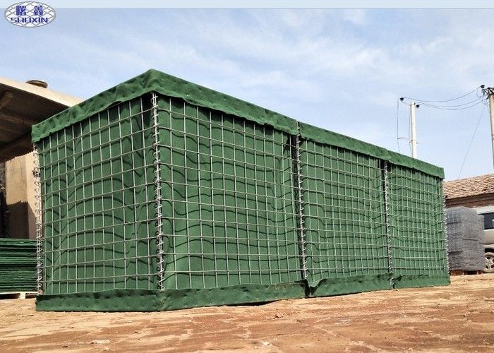 Galvanized Q195 Low Carbon Wire Hesco Flood Barriers For Military Uniforms